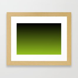 Ombre | Charcoal Grey and Lime Green Framed Art Print