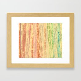 cascada de colores Framed Art Print
