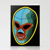 majoras mask Stationery Cards featuring mask by mark ashkenazi