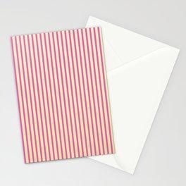 Raspberry Stripes Stationery Cards
