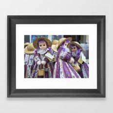 Lavender Dollies Framed Art Print