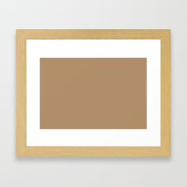 ICED COFFEE PANTONE 15-1040 Framed Art Print