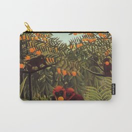 Apes in the Orange Grove by Henri Rousseau 1910 // Colorful Jungle Animal Landscape Scene Carry-All Pouch