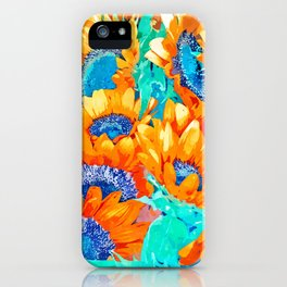 Sunflower Garden #nature #painting iPhone Case