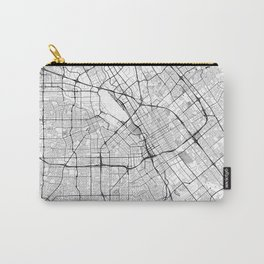 San Jose Map Gray Carry-All Pouch
