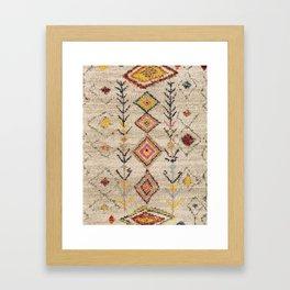 Oriental Vintage Moroccan Berber Rug Style 5 Framed Art Print