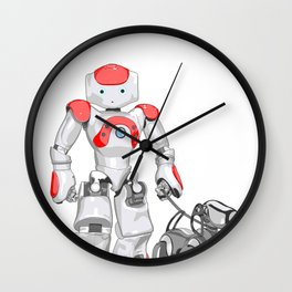 The Dog Walker. (Red) Wall Clock