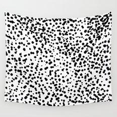 Retro Themed Dot Pattern Design Wall Tapestry