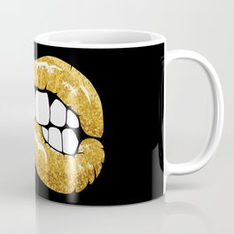 Gold glitter lips Coffee Mug