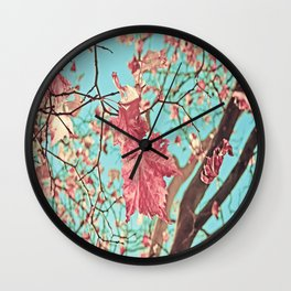 Flying Leaves Wall Clock
