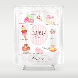 Paris Patisserie Shower Curtain