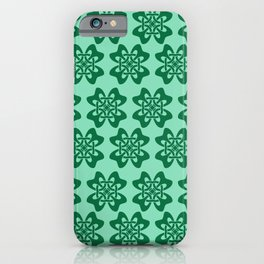 Irish Celtic Four Leaf Clover Pattern iPhone Case