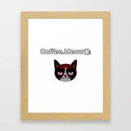 coffee.meow() coffee addict developer Framed Art Print
