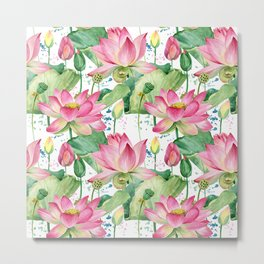lotus flowers Metal Print