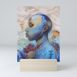 Beyond the waves of the mind Mini Art Print