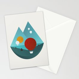 Sky Balloons Stationery Cards