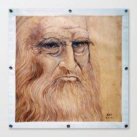da vinci Canvas Prints featuring Leonardo Da Vinci by Michael Cu Fua