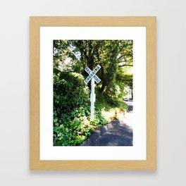 Korbel Rail Road Crossing Framed Art Print