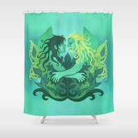 fili Shower Curtains featuring Take me to the Forest by MelColley