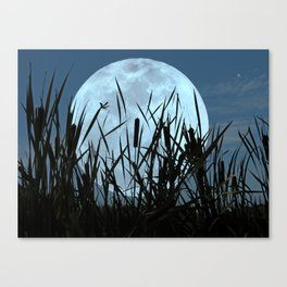 Between the Moon and Marsh Canvas Print