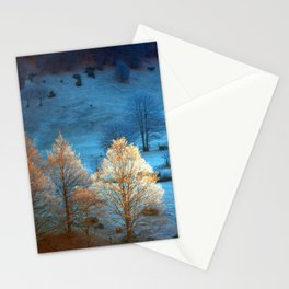 Warm Trees Stationery Cards