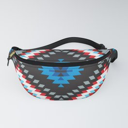 Colorful patchwork mosaic oriental kilim rug with traditional folk geometric ornament. Tribal style Fanny Pack