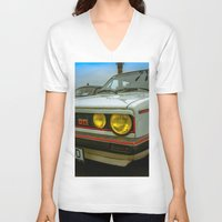 volkswagen V-neck T-shirts featuring Volkswagen Golf Vintage by Eduard Leasa Photography
