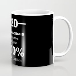Humorous 2020 Review Rotten Tomatoes Score From World Population White Lettering Coffee Mug