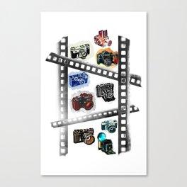 Iconic Cameras! Canvas Print