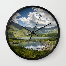 Mountain Lakes Wall Clock