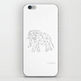 Geometric Elephant iPhone Skin