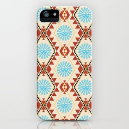 Southwest - Blue Hopi Sun iPhone Case