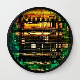 BURNING HOUSE Wall Clock