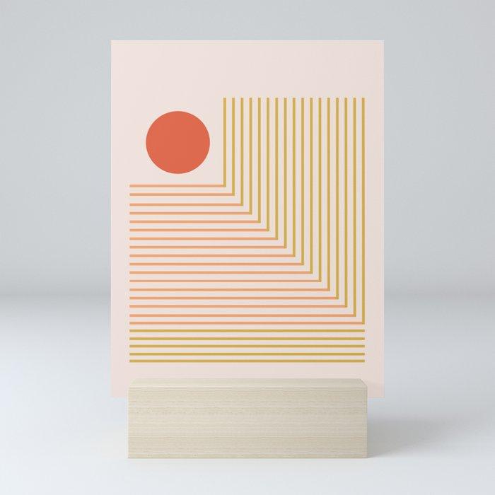 Lines & Circle 02 Mini Art Print