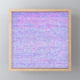 Purple Pink Elegant Flat Weave Rug Texture Framed Mini Art Print