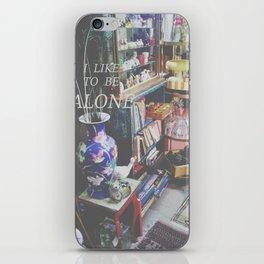I Like to Be Alone iPhone Skin