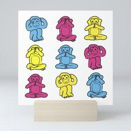 Three Wise Monkeys Mini Art Print