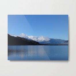 Mapourika lake Metal Print