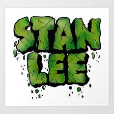 Stan Lee (Hulk) Art Print