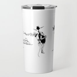 Tiki mask jetpack Travel Mug