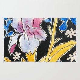 Iris Floral Rug