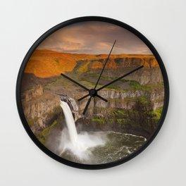 I - Palouse Falls in Washington, USA at sunset Wall Clock