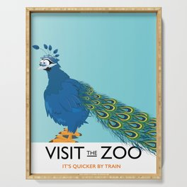 Visit the Zoo Peacock edition Serving Tray