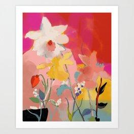 blooming abstract pink Art Print