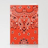 tupac Stationery Cards featuring red bandana by Marta Olga Klara