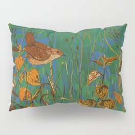 Winter Glimpses - Wren and Physalis Pillow Sham