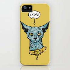 Lying cat  Slim Case iPhone SE