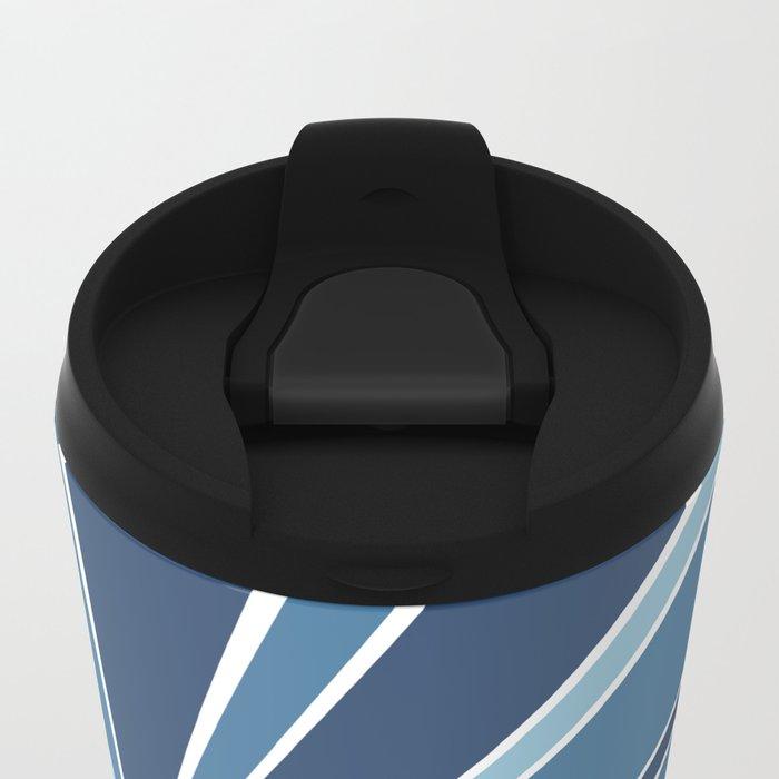 Star Burst Blues Metal Travel Mug