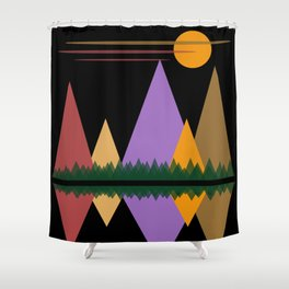 Moon Over The Mountains #1 Shower Curtain