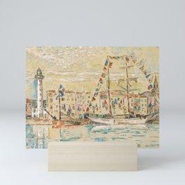 """Paul Signac """"La Rochelle, bateaux pavoisés"""" Mini Art Print"""